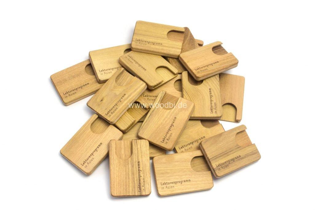 Visitenkartencase aus Holz