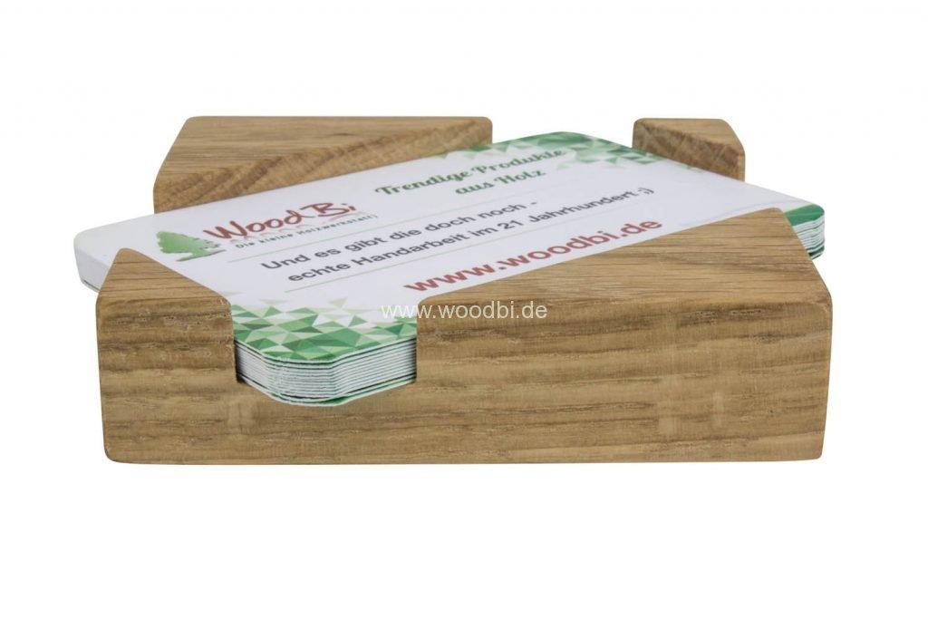 Visitenkartenbox aus Holz für Visitenkarten im Kreditkartenformat