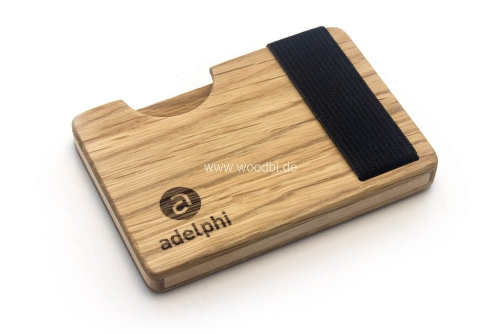 Visitenkartenetui aus Holz