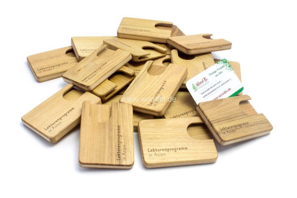 Etui für Visitenkarten aus Holz