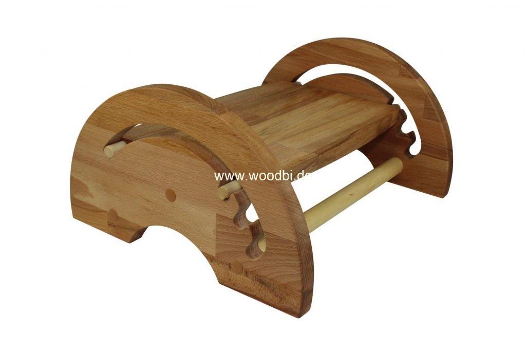 Fußbank aus Holz