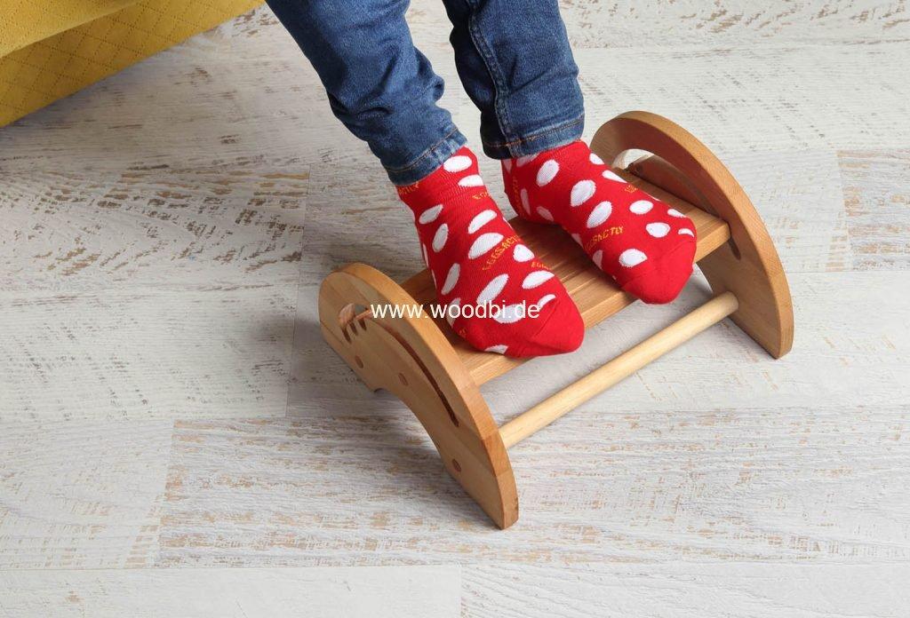 Fußbank aus Holz für Kinder und Erwachsene