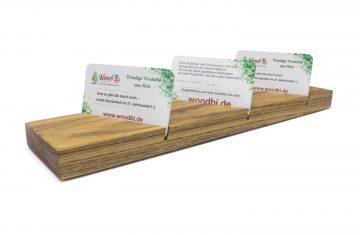 Visitenkarten-ständer aus Holz - Akazie