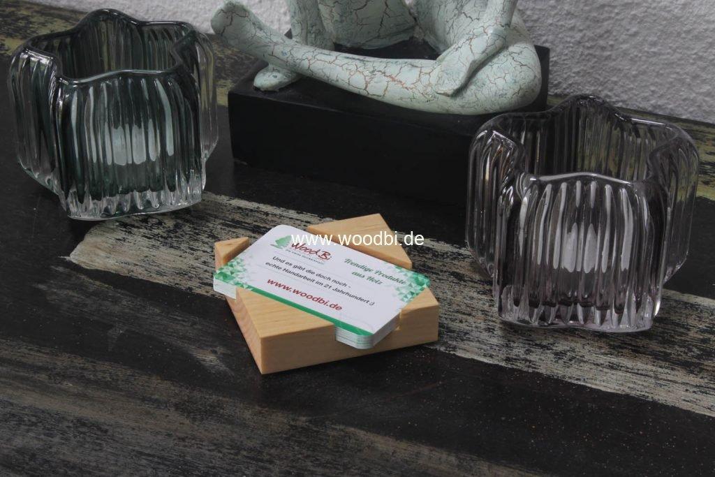 Kartenbox aus Holz Kreditkarten