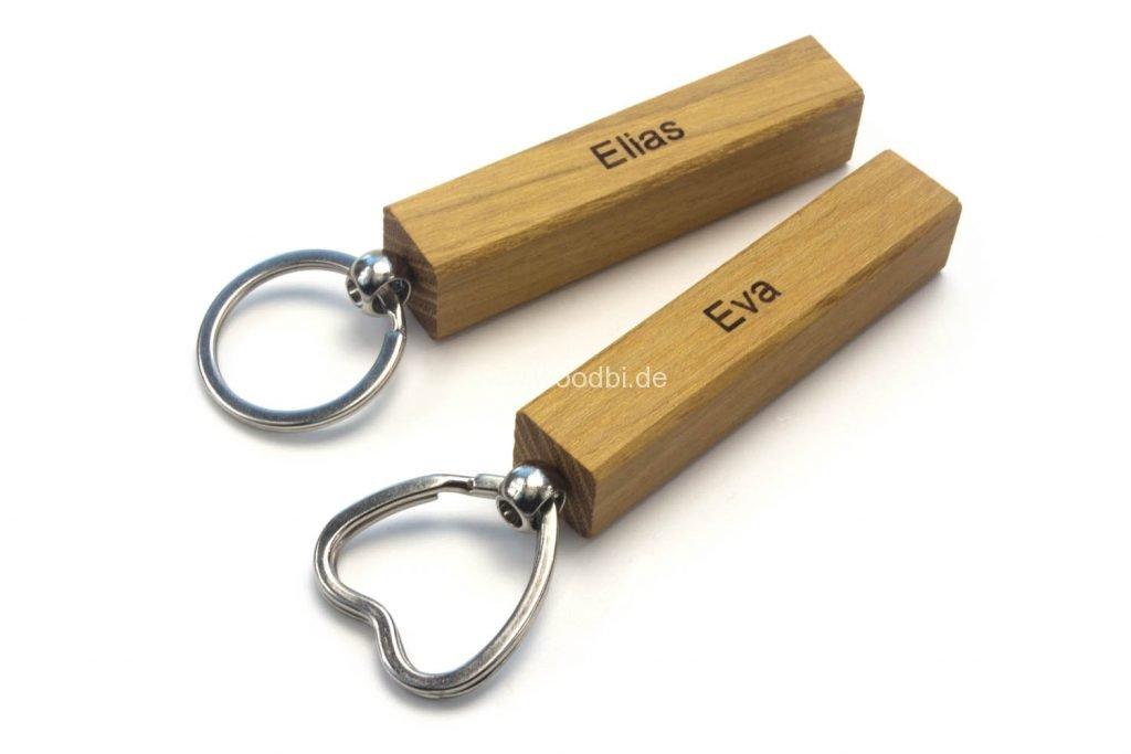 Schlüsselanhänger aus Holz Holzart Akazie