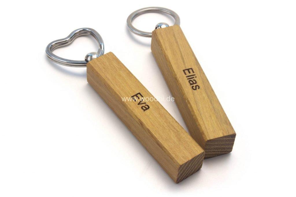 Schlüsselanhänger Akazie Holz