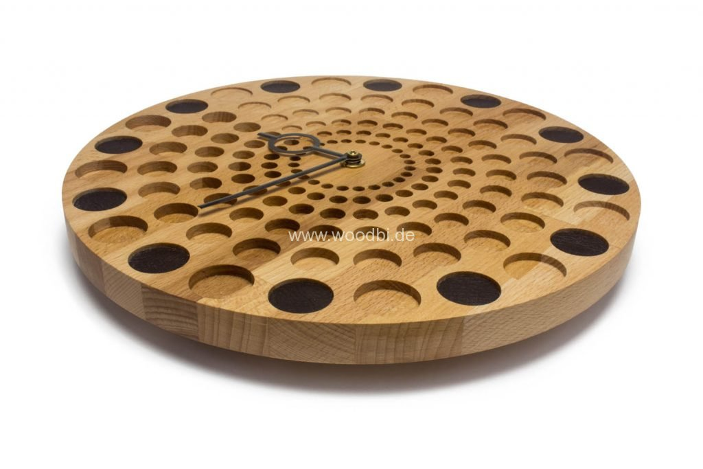 Wanduhr aus Holz handmade