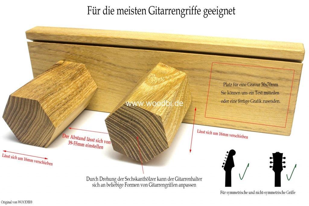 Gitarren-hacken für die Wand aus Holz