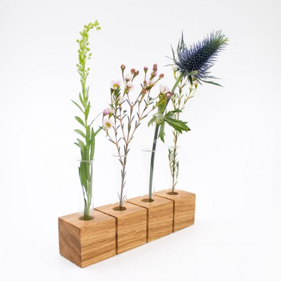 Blumenvase aus Holz - Eiche