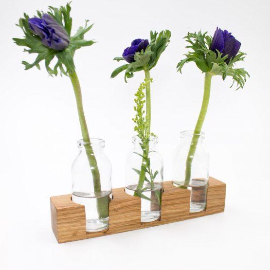"Blumenvase ""ISONOE"" aus Holz"