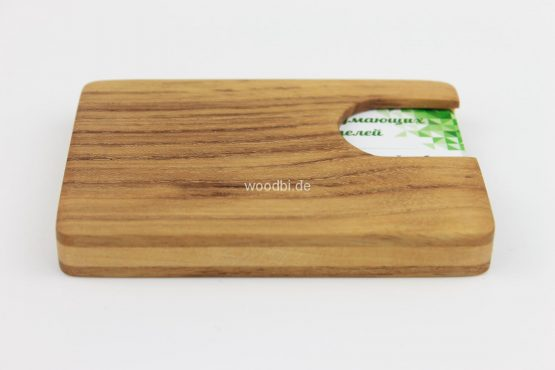 "Visitenkartenetui ""EUANTHE"" aus Holz - Akazie"
