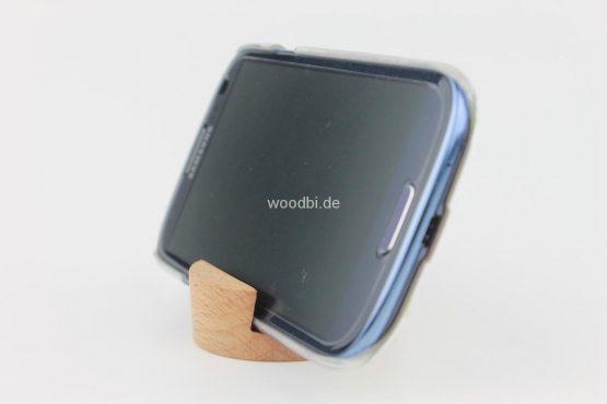 """Handyhalter """"AOEDE"""" aus Holz - Buche"""