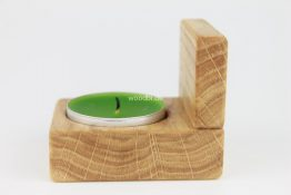 """Teelichthalter """"EURYDOME"""" aus Holz Eiche"""