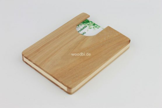 "Visitenkartenetui ""EUANTHE"" aus Holz - Birne"