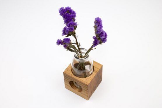 """Blumenvase """"LOCASTE"""" aus Holz"""